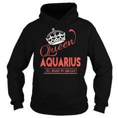 I Love Aquarius queen T shirts