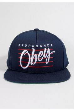 Obey Clothing Sidelines Snapback Hat - Dark Navy Urban Fashion Women 7656455ee4f8