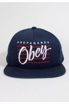 Obey Clothing Sidelines Snapback Hat - Dark Navy Urban Fashion Women 7656455ee4f8