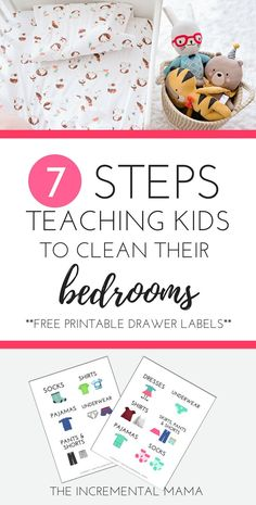 7 Steps Teaching Kids to Clean Their Bedrooms