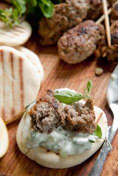 Yummy Recipes: Lamb Kofta with Tzatziki dip recipe