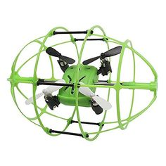 LITTLEPIG Skytech M69 Quadcopter 360Flips 24G Safe 6Axis Gyro With Rugby Football Protective Cover RTFGreen >>> Click on the image for additional details.
