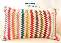 """This lovely work was made and found over at the German Blog Tabula Rosi. """"Granny Stripes"""" - detailed instructions in English can be found atAttic24."""