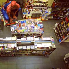 Look, who was shopping with me on the bookstore! #book #store #read #reader #comics #hero #Spiderman #Marvel