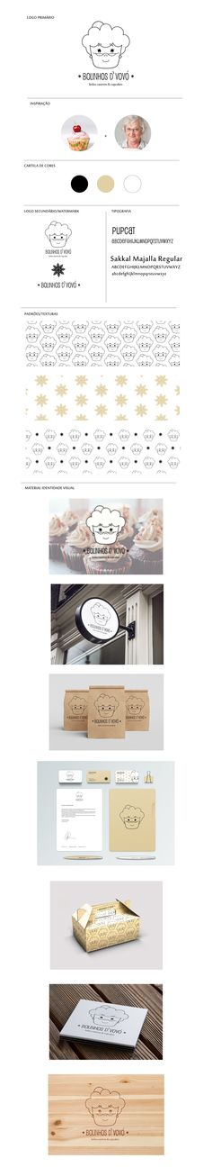 Cupcake/cake brand monoline logo on Behance