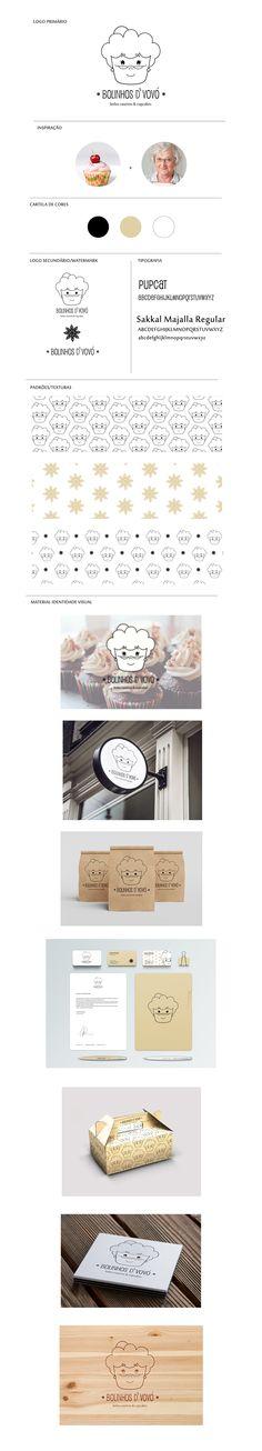 Cupcake/cake brand monoline logo on Behance