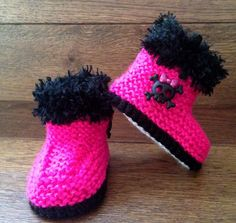 Hey, I found this really awesome Etsy listing at https://www.etsy.com/listing/185987529/hand-knitted-goth-baby-booties-boots