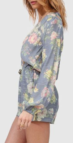 Bardot Floral Romper. Very pretty pastels for a Sunday afternoon lunch with the girls ♡