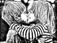 O 1º Beijo roubado a gente nunca esquece.