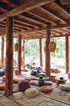 Tulum - Mexico's boho beach hangout - - Tulum – Mexico's boho b.You can find Tulum and mo. Patio Interior, Restaurant Interior Design, Cafe Interior, Beach Restaurant Design, Restaurant On The Beach, Tulum Beach, Beach Resorts, Beach Trip, Beach Travel