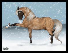 Amid The Falling Snow by ~boribaby on deviantART