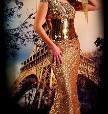 Gold Sparkle Ballgown. Find your perfect prom gown at Fancy Schmancy! 641 Loudon Rd., Latham, NY.  #ballgown #dress #holiday #highschool  #prom #prom2015 #fancyschmancy #upstateNY #latham  #gorgeous #wedding #sparkle  #sexy #peekaboo #gold