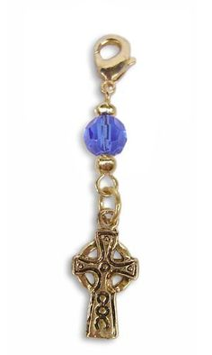 Charm Small Celtic Cross - Gold