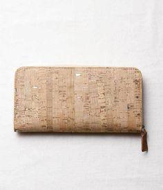 コルクシルバー箔ラウンド財布(ナチュラル×シルバー箔)