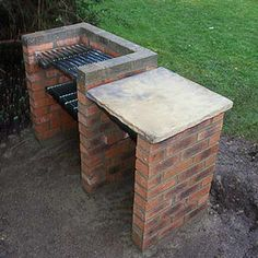 Discover how easy it is to build a brick barbecue in just a day, with this simple, step-by-step guide from the experts at BBC Gardeners' World Magazine. Brick Built Bbq, Brick Grill, Built In Bbq Grill, Built In Braai, Outdoor Barbeque, Barbecue Area, Diy Bbq Area, Garden Bbq Ideas, Bbq Area Garden