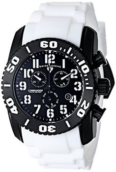Men's Wrist Watches - Swiss Legend Mens 11876TIB01WHTAS Commander Titanium Analog Display Swiss Quartz White Watch ** See this great product. (This is an Amazon affiliate link)