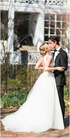 Backless wedding dress, A-line gown, black-tie wedding fashion, bridal style // Cramer Photo