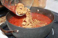 Lowfat lasagna soup