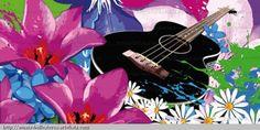 Guitarra.   Net Art/Arte digital 100 x 50 cm