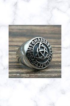 Celtic Irish Trinity Knot Ring Stainless Steel