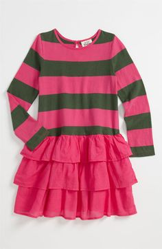 Mini Boden Stripe Ruffle Dress (Little Girls & Big Girls) available at #Nordstrom