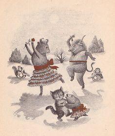 garth williams, illustration from 'wait till the moon is full' (1948)