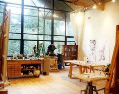 Eric Fischel's studio