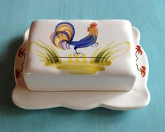Quimper faience butter dish