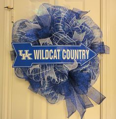 UK Wildcat Country Deco Mesh Wreath by RamonaReindeer on Etsy, $60.00