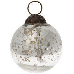 Mercury Glass Christmas Ornament (Classic Ball Design, 2 Inches,... ($3.70) ❤ liked on Polyvore featuring home, home decor, holiday decorations, cultural intrigue, vintage style christmas ornaments, silver home decor, christmas ball ornaments and silver christmas tree ornaments