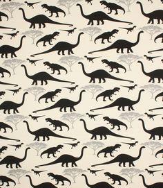 Dinosaur fabric!   http://www.justfabrics.co.uk/curtain-fabric-upholstery/black-dinosaurs-fabric/