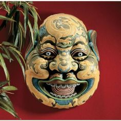 """11"""" Classic Chinese Asian Wei Chi Gong Sculpture Wall Mask Art Deco by XoticBrands. $51.20. Cast in quality designer resin. From the famed masks of the Chinese OperaHandmade in China, this historically and culturally accurate replica of the revered wall masks of the Chinese Opera depicts Chi Gong, an important officer of Tang Dynasty imperial general Li Shi Min, said to guard against evil. The expressive, ornately sculpted face is cast in quality designer resin then de..."""