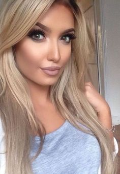 Gorgeous Makeup: Tips and Tricks With Eye Makeup and Eyeshadow – Makeup Design Ideas Flawless Makeup, Gorgeous Makeup, Love Makeup, Beauty Makeup, Makeup Looks, Hair Beauty, Blonde Beauty, Perfect Makeup, Makeup Geek