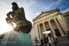 wedding ceremony at Cleveland museum of art
