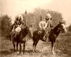 Sioux Indians on horseback