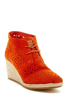 Moroccan Cutout Suede Bootie by TOMS on @nordstrom_rack