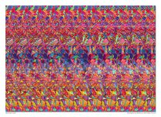 Stereogram by 3Dimka: Mushroom Caves. Tags: girl, rat, mashrooms, caves, hidden 3D picture (SIRDS)