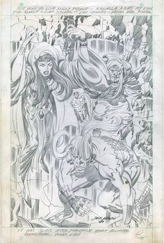 Some fine Jack Kirby pencils on this splash from Thor #167...