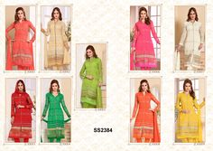 Catalog Name : SS2384    Designs : 9 MOQ : Full Catalog