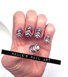 Nailpolis Museum of Nail Art   ChevrOn and Off by Halle Butler
