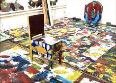 News Blog | Robert A. Wettstein Robert's Chair used as a Canvas by Artist Urs Frei.