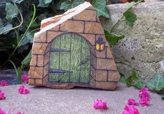 '*The Daydream Door* - OOAK Hand Painted Rock Art' is going up for auction at  9pm Wed, Sep 25 with a starting bid of $7.