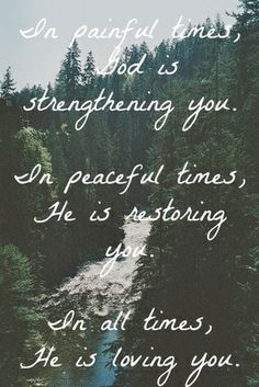 Believe that He is working in YOU