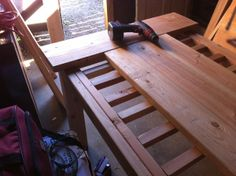 (Original post from my Blogger; visit  to view it.  And please also excuse my poor-quality iPhone pictures.) I built a table. A legitimate dining-room table. Totally serious. Interested in building…