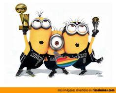 Minions de Miami Heat campeones de la NBA 2013.