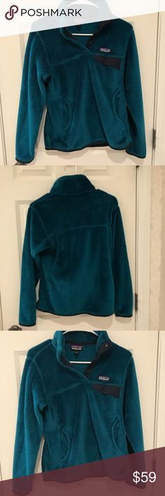 Patagonia women's re-tool snap-t fleece pullover Dark teal color, rare item (no longer listed online) great quality, worn but shows no signs of wear, no holes or damage, size small Patagonia- bought for 120+ dollars. Patagonia Tops Sweatshirts & Hoodies