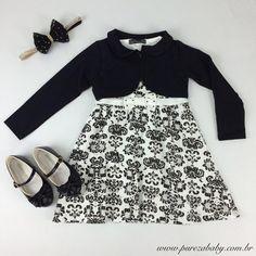 Babando pela coleção de inverno 2015 da Pureza Baby!!!  ✔️Vestido com bolero  ✔️Sapatilha verniz  ✔️Faixa de strass   Look completo em www.purezababy.com.br