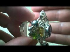 Gregory Pyra Piro Ring 1565, 14k Gold and Sterling Silver, Amethyst, Per...