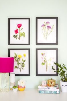 Printable Live Botanical Artwork   Dream Green DIY