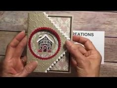 Stampin' Up! Fancy Fold Card with Candy Cane Lane DSP This is such a fabulous card!